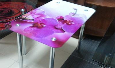 Столы стеклянные с фотопечатью купить