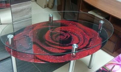 Стол стеклянный с фотопечатью купить