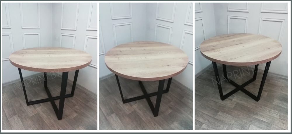 Кухонный стол Loft круглый